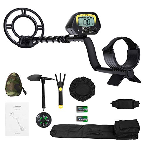 MARNUR Metal Detector Kit for Kids and Adults with Waterproof Search Coil Backlight LCD High...