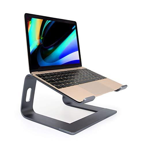 Laptop standaard, Ergonomische Notebook Stand, Aluminium Verwijderbare Laptop Houder, Demonteerbare Ventilatie Houder, Riser voor MacBook ProAir, HP, Dell, Lenovo, Samsung, HUAWEI, alle 10 ~ 17,3 Notebooks (grijs)