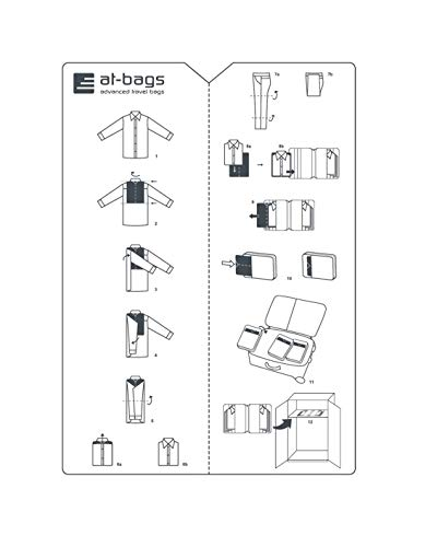 at-bags advanced travel bags ALTA-FALTA - Falthilfe - Faltbrett - Hemdenfalter 2 Stück Packung - endlich Ordnung im Gepäck - entworfen und gefertigt in Europa