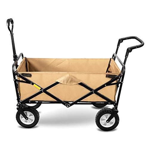 HLL Hogar plegable Jardín CARRO de servicio pesado carro de múltiples funciones de Compras para acampar al aire libre de camiones de extracción de pesca con 4 ruedas, de carga estática: 150Kg,El jeng