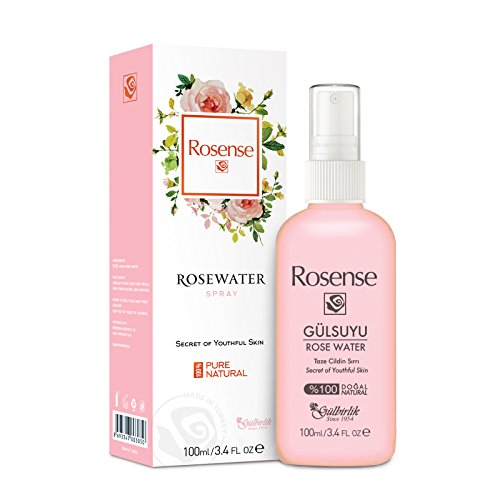 100% Pure Natural Vegan Turkish Rosewater Hydrating Face Mist/Rose Water Face Toner (No Additives, No Chemicals, No Preservatives) 100mL/3.4 Oz