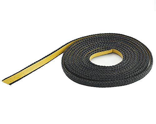 Nastro in fibra di vetro, colore nero, 10 x 2 mm, piatto, 2 m