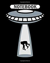 Notebook: monkey chimpanzee hijack ray laser beam saucer fas  College Ruled - 50 sheets, 100 pages - 8 x 10 inches