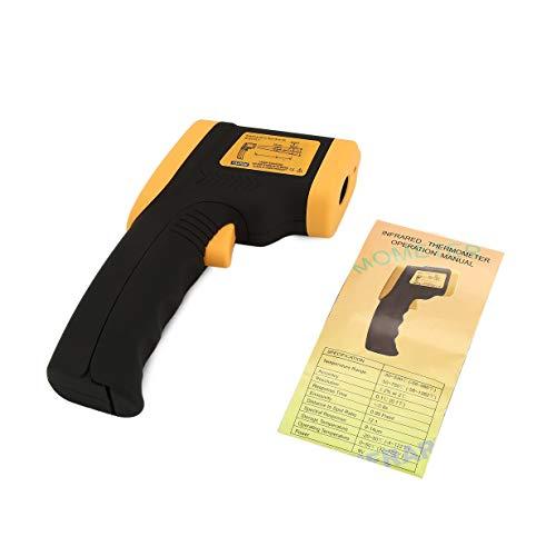 DT600 Laser LCD Digital IR Infrarot Thermometer Temperaturanzeige Pistole Punkt -50~600 Grad Berührungslose Thermometer (Orange) by camellia