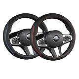 Xumier 2pcs Car Steering Wheel Cover Universal Auto Lenkradhülle Lenkradbezug aus Mikrofaser Leder...