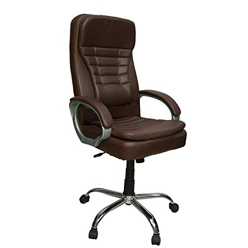 CELLBELL C56 High Back Revolving Boss Chair [Chocolate Brown]