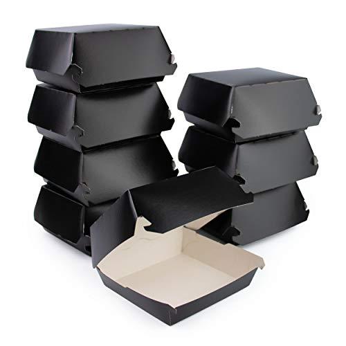 Extiff - Lote de 50 cajas de cartón, 100% reciclable y biodegradable, 12,5 x 11 x 4,5 cm, color negro
