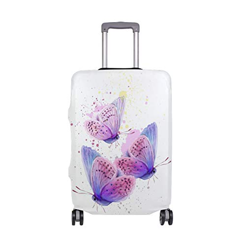AJINGA Butterfly Watercolor Card Travel Luggage Protector Suitcase Cover XL 29-32 in