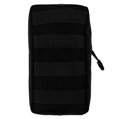 Qianghong Tactique Modulaire Pochette Sac Utilitaire Accessoire Militaire - Taille unique, Noir