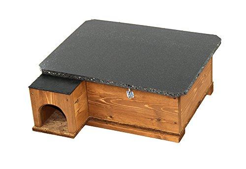 Riverside Woodcraft Hedgehog House Golden Brown With Anti Bacteria Coating