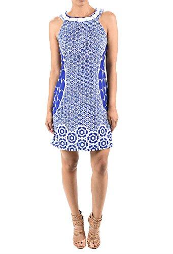 Aryeh Ladies Printed Summer Dress (Medium, Royal)
