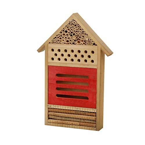 Kasfam Insektenhotel, Hölzernes Insektenhotel mit Mehreren Kammern Insektenhaus für Bienenmarienkäfer Lacewings für Bienen, Marienkäfer