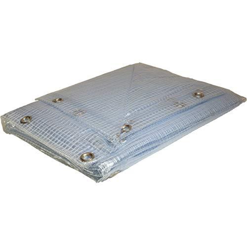 Telone Esercito PVC 6x 8m trasparente 400g/m²–Telo di protezione impermeabile