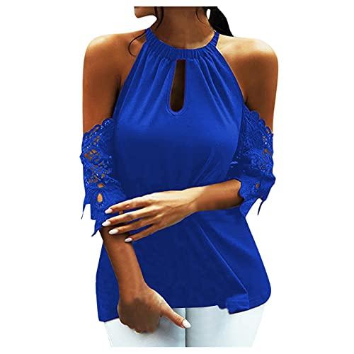 Julhold Camisa de verano sexy para mujer, hombros halter