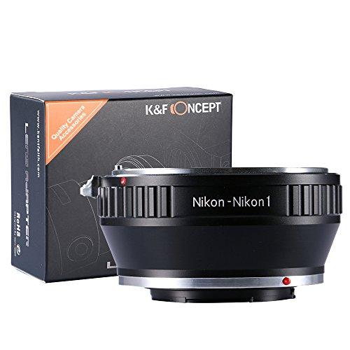 Adaptador Nikon-Nikon1, K&F Concept Adaptador de Lente, para Montar Nikon Nikkor Lente a Nikon 1-Series Cámara, para Nikon V1, V2, J1, J2 Mirrorless Cámaras