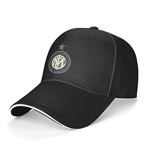 Yearinspace Gorra de béisbol unisex In-TER Mil-an lavable ajustable sombrero de camionero para papá, color negro