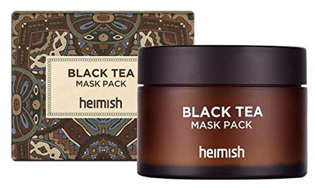 パッド高音集める[heimish] Black Tea Mask Pack 110ml /ブラックティーマスクパック110ml [並行輸入品]