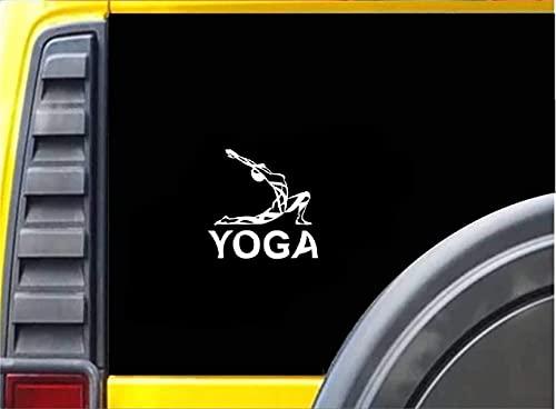 DKISEE Calcomanía de coche adhesivo para coche, fitness, yoga, ejercicio aeróbico, decoración para coche, parachoques y ventana, 6 pulgadas