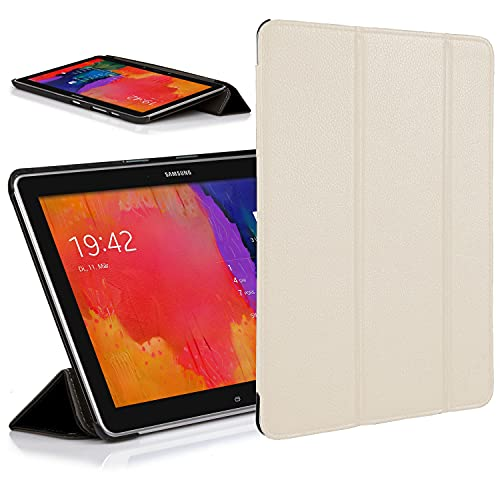 Forefront Cases Smart Funda para Samsung Galaxy Tab Pro 10.1 Carcasa Stand Case Cover – Ultra Delgado Ligera y Protección Completa del Dispositivo con Auto Sueño Estela Función (Blanco)