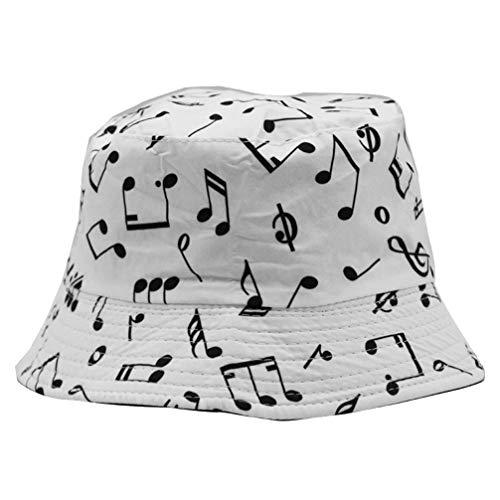 KESYOO Sombrero de Cubo de Doble Cara Nota Musical Graffiti Sombrero de...