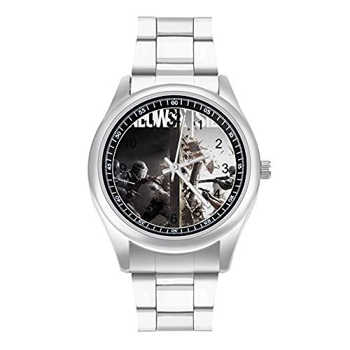 トムクランシーのレインボーシックス Tom Clancy's Rainbow Six メンズ腕時計 クォーツ時計 ファッション カジュアル ビジネス スポーツ ユニセックス ステンレス クォーツ クオーツク男性時計