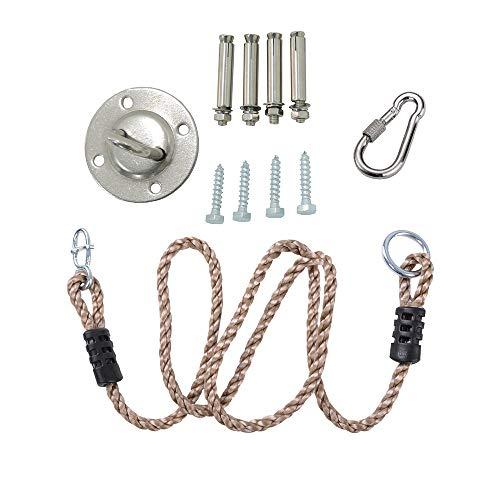 KINSPORY Length Adjustable Nylon Rope & Hanging Tree Straps...
