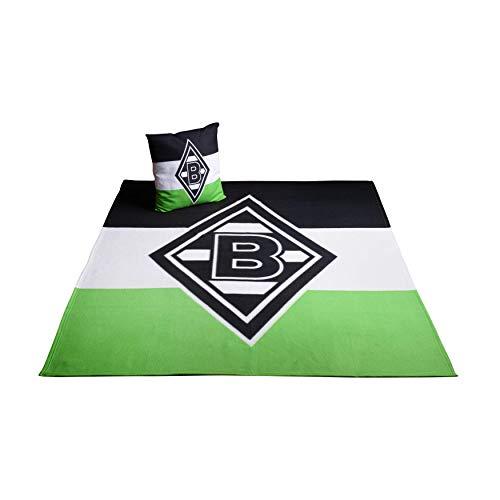 Borussia Mönchengladbach Kissen & Fleecedecke Bundle
