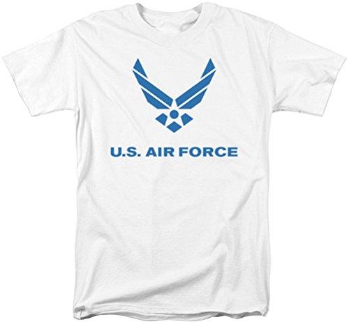 Air Force - - T-shirt affligé de Logo pour hommes, Large, White