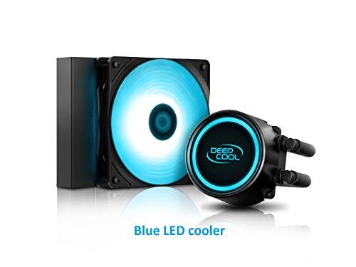 DEEP COOL GAMMAXX L120T Blau AIO CPU Wasserkühlung CPU-Flüssigkeitskühlung 120mm PWM Blau LED Lüfter, 3 Jahre Garantie