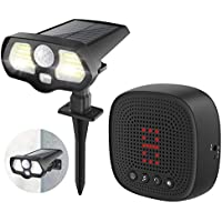 1 Byone 2-In-1 Solar Driveway Alarm With Solar LED Lights