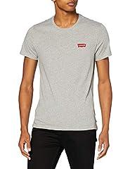 Levi's 2pk Crewneck Graphic Camiseta Blanca para Hombre Manga Corta - Pack Hm White/Mid 0001