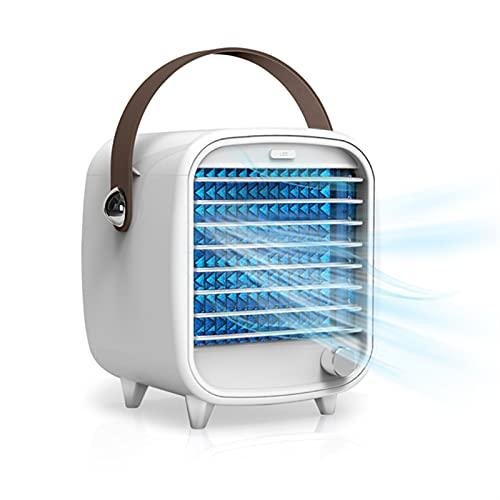 wwyy Acondicionador de Aire portátil pequeño USB Refrigerador de Aire de Escritorio Box Incorporado de Hielo Ventilador de refrigeración Viento Fuerte Noche Luz de Noche para Dormitorio para el hogar