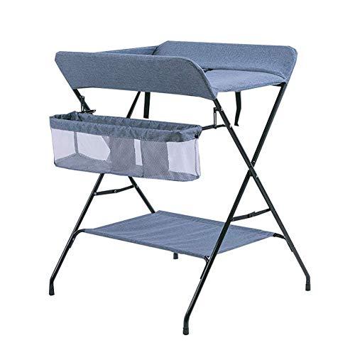 N/Z Table d'équipement de Vie Portable Infantile bébé lit de Voyage bébé Station de bébé Multifonctionnel Pliant Enfant Berceau Parc d'entrée (Couleur: Bleu)