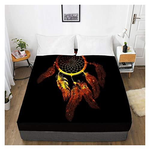 MOLUO Sábana Hoja de Cama de impresión Digital de Alta definición 3D con sábana de Cama, Cama King-Size, Cubierta de colchón 150x200 (Color : 5, Size : 180x200 Deep 30cm)
