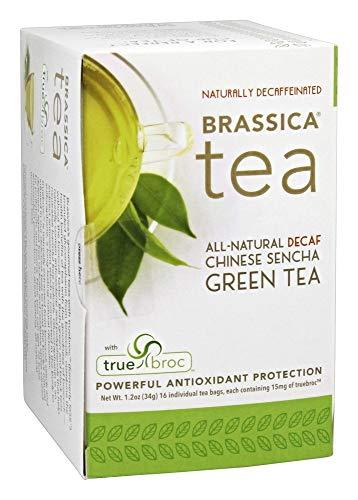 Brassica Tea Decaf Sencha Green Tea with truebroc, 16 Tea Bags