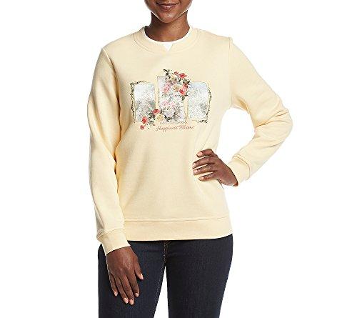 Breckenridge Petites' Crew Neck Embellished Fleece Sweater Petite X-Large