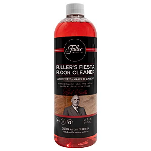 Fuller Brush Fiesta Floor Cleaner Liquid Concentrate - Eco Multi-Surface & Industrial Cleaning for Hardwood, Laminate, Linoleum, Tile & Ceramic Floors, 24 Fl. Oz. Bottle (1)