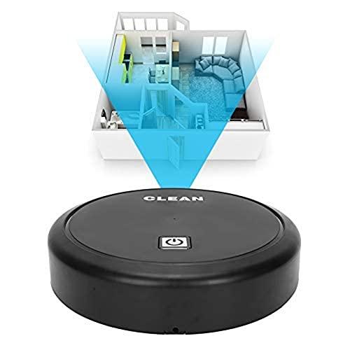 Zerodis Robot Aspirador, Máquina Barredora Inteligente Aspiradora 2 en 1 Barredora Carga USB Electrodomésticos de Bajo Ruido para Alfombra/Piso de Madera/Mármol