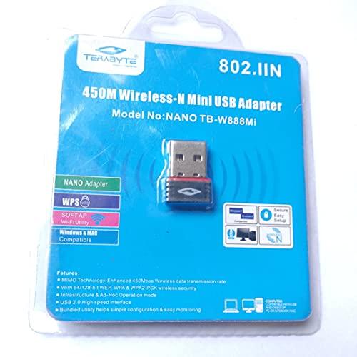 StoreIN Terabyte Nano TB-W888Mi Mini 450Mbps High-Speed Wireless USB Adapter Mini WiFi Dongle for Laptop & Pc.