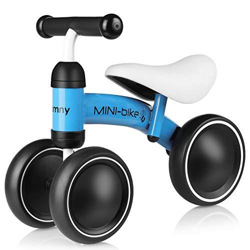 Bamny Baby Laufrad Kinder Laufräder Lauflernrad Balance Bike mit 3 Räder, Rutschrad Fahrrad Baby Walker für Kleinkinder 10-24 Monate 1 Jahr 2 Jahr - Blau