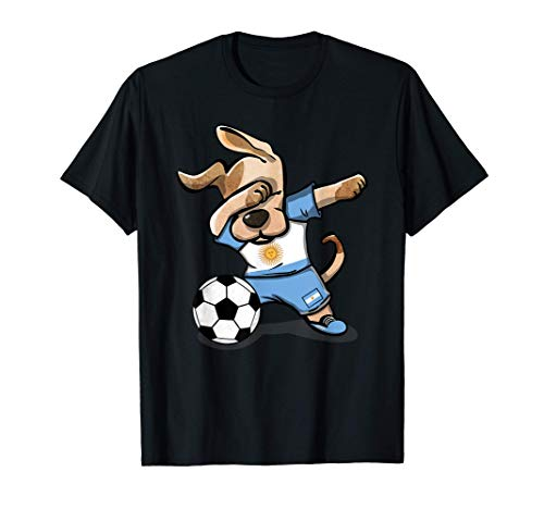 Perro Dabbing Argentina Fútbol Bandera Argentina Fútbol Camiseta