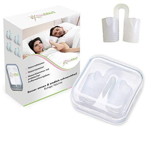 SiaMed Nasendilatatoren mit Aufbewahrungsbox | Schnarchstopper | Nasenspreizer | SnoreStoppers gegen Schnarchen (2 Stück mit Box)