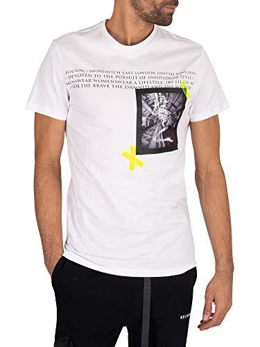 Religion de los Hombres Camiseta de corrección, Blanco, S
