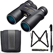 Nikon Monarch 7 8x42 Roof Prism All-Terrain Binoculars Bundle Lens Pen + 67-inch Lightweight Monopod, Advanced Kit
