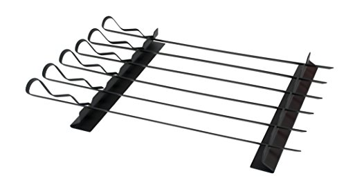 Charcoal Companion Non-Stick Kabob Rack with Six Skewers