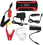 JYZT Amplificador De Batería De Auto Portátil, Arrancador Multifuncional De 20000 MAh con 4 Puertos USB Y Linterna LED, Energía Móvil De Arranque De Emergencia Exterior para Camiones, Moto, SUV
