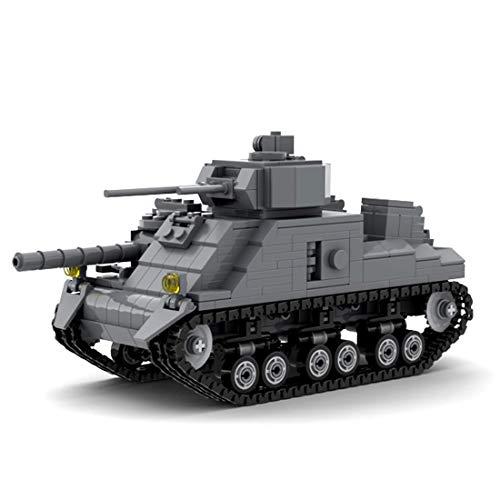 HZYM Bloques de construcción de modelo de tanque, 537 piezas WW2 US Army Sherman M3 tanque militar, kits de construcción compatibles con Lego Technic