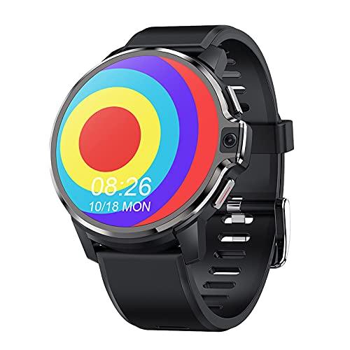 YHWD Reloj Inteligente 4G De 1.6 Pulgadas, Reloj Inteligente Bluetooth Bt4.1, 4G + 64GB Ram, Batería 1050 Mah, Resolución 400 * 400, Cámara 10 Millones, IР67 a Prueba Agua para Android 9.1