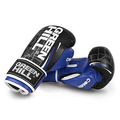 Green Hill Comet - Guantes de Boxeo Unisex - Adulto, Negro/Azul, 12...