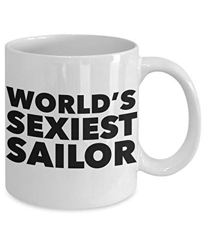 Zor345damilla Sailor Kaffeebecher Matrose Kaffeetasse Matrosengeschenk Welt Sexiest Matrosenbecher Keramik Tasse Geschenke für Seefahrer Segeln Geschenke für Frauen oder für Ihn